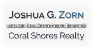 JoshZorn.com Coral Shores Realty logo with transparent background and white faded logo